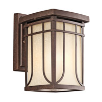Kichler Lighting Riverbank 1 Light Outdoor Wall Lantern in Aged Bronze 49147AGZ