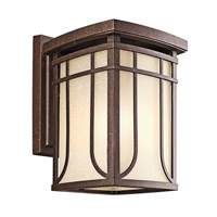 Kichler Lighting Riverbank 1 Light Outdoor Wall Lantern in Aged Bronze 49148AGZ photo thumbnail