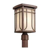 Kichler Lighting Riverbank 1 Light Outdoor Post Lantern in Aged Bronze 49150AGZ