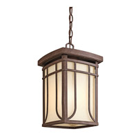 Kichler Lighting Riverbank 1 Light Outdoor Pendant in Aged Bronze 49152AGZ