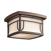 Kichler Lighting Priya 2 Light Outdoor Flush Mount in Aged Bronze 49153AGZS