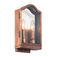 Kichler 49154ACO Antico 2 Light 12 inch Antique Copper Outdoor Wall - Medium