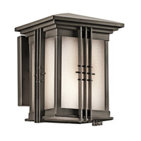 Kichler 49157OZ Portman Square 1 Light 8 inch Olde Bronze Outdoor Wall Lantern in Standard photo thumbnail