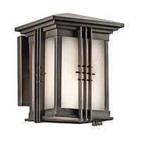 Kichler 49157OZFL Portman Square 1 Light 8 inch Olde Bronze Outdoor Wall Light in Fluorescent