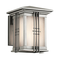 Kichler Lighting Portman Square 1 Light Outdoor Wall Lantern in Stainless Steel 49157SS