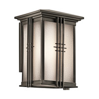 Kichler 49158OZ Portman Square 1 Light 11 inch Olde Bronze Outdoor Wall Lantern in Standard