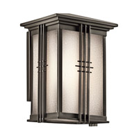 Kichler 49158OZFL Portman Square 1 Light 11 inch Olde Bronze Outdoor Wall Mount in Fluorescent