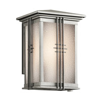 Kichler Lighting Portman Square 1 Light Outdoor Wall Lantern in Stainless Steel 49158SS photo thumbnail