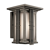 Kichler 49159OZ Portman Square 1 Light 14 inch Olde Bronze Outdoor Wall Lantern in Standard photo thumbnail