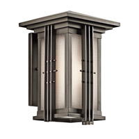 Kichler 49159OZFL Portman Square 1 Light 14 inch Olde Bronze Outdoor Wall Mount in Fluorescent