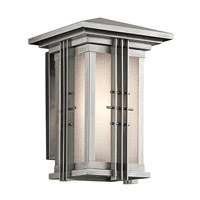 Kichler Lighting Portman Square 1 Light Outdoor Wall Lantern in Stainless Steel 49159SS photo thumbnail