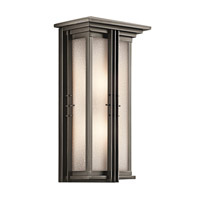 Kichler 49160OZ Portman Square 2 Light 22 inch Olde Bronze Outdoor Wall Lantern in Standard