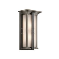 Portman Square 2 Light 22 inch Olde Bronze Outdoor Wall Light in Fluorescent