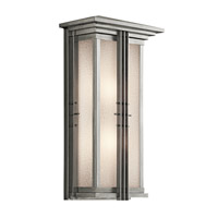 Kichler Lighting Portman Square 2 Light Outdoor Wall Lantern in Stainless Steel 49160SS photo thumbnail