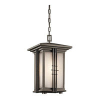 Kichler Lighting Portman Square 1 Light Outdoor Pendant in Olde Bronze 49161OZ photo thumbnail