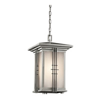 Kichler Lighting Portman Square 1 Light Outdoor Pendant in Stainless Steel 49161SS photo thumbnail