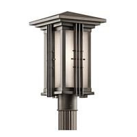Kichler 49162OZ Portman Square 1 Light 16 inch Olde Bronze Outdoor Post Lantern photo thumbnail