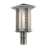 Kichler Lighting Portman Square 1 Light Outdoor Post Lantern in Stainless Steel 49162SS