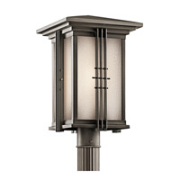 Kichler Lighting Portman Square 1 Light Outdoor Post Lantern in Olde Bronze 49163OZ photo thumbnail