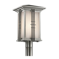 Kichler Lighting Portman Square 1 Light Outdoor Post Lantern in Stainless Steel 49163SS
