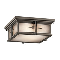 Kichler 49164OZ Portman Square 2 Light 12 inch Olde Bronze Outdoor Flush Mount