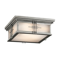 Kichler Lighting Portman Square 2 Light Outdoor Flush Mount in Stainless Steel 49164SS