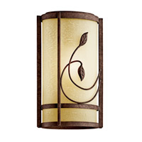 Kichler Lighting Lancaster Gardens 1 Light Fluorescent Outdoor Wall Lantern in Aged Bronze 49167AGZFL photo thumbnail