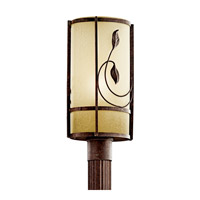 Kichler Lighting Lancaster Gardens 1 Light Fluorescent Outdoor Post in Aged Bronze 49170AGZFL
