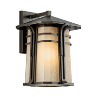 Kichler 49177OZFL North Creek 1 Light 18 inch Olde Bronze Fluorescent Outdoor Wall Lantern