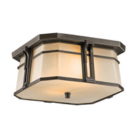 Kichler Lighting North Creek 2 Light Outdoor Flush Mount in Olde Bronze 49181OZ photo thumbnail