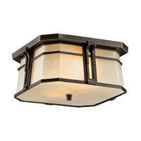 Kichler Lighting North Creek 2 Light Fluorescent Outdoor Ceiling in Olde Bronze 49181OZFL photo thumbnail