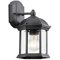 Kichler 49183BK Barrie 1 Light 11 inch Black Outdoor Wall Lantern in Standard