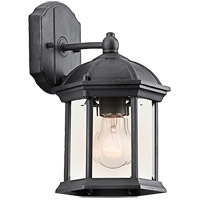 Kichler 49183BKL16 Barrie 1 Light 10 inch Black Outdoor Wall Light in LED