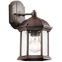 Kichler 49183TZ Barrie 1 Light 11 inch Tannery Bronze Outdoor Wall Lantern in Standard