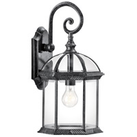 Kichler Lighting Barrie 1 Light Outdoor Wall Lantern in Black Material 49186BK
