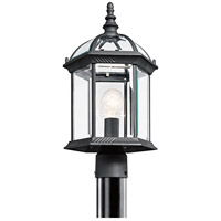 Kichler Lighting Barrie 1 Light Outdoor Post Lantern in Black Material 49187BK