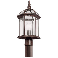 Barrie 1 Light 18 inch Tannery Bronze Outdoor Post Lantern in Standard