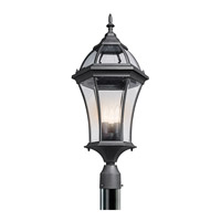 Kichler Lighting Townhouse 3 Light Outdoor Post Lantern in Black 49188BK