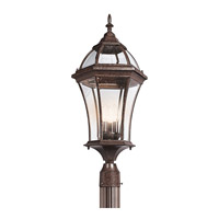 Kichler Lighting Townhouse 3 Light Outdoor Post Lantern in Tannery Bronze 49188TZ photo thumbnail