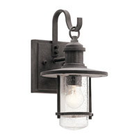 Kichler 49191WZC Riverwood 1 Light 13 inch Weathered Zinc Outdoor Wall Light, Small