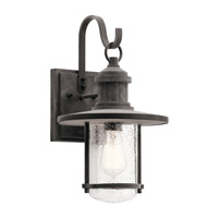 Kichler 49193WZC Riverwood 1 Light 17 inch Weathered Zinc Outdoor Wall Light, Large