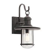 Kichler 49194WZC Riverwood 1 Light 20 inch Weathered Zinc Outdoor Wall Light X-Large
