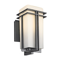 Kichler 49200BK Tremillo 1 Light 12 inch Black Outdoor Wall Lantern in Standard