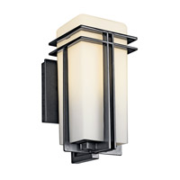Kichler Lighting Tremillo 1 Light Fluorescent Outdoor Wall Lantern in Black 49200BKFL