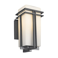 Kichler 49201BK Tremillo 1 Light 14 inch Black Outdoor Wall Lantern in Standard photo thumbnail