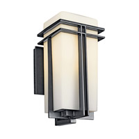 Kichler Lighting Tremillo 1 Light Fluorescent Outdoor Wall Lantern in Black (Painted) 49201BKFL