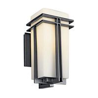 Kichler Lighting Tremillo 1 Light Fluorescent Outdoor Wall Lantern in Black (Painted) 49201BKFL