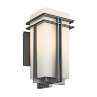 Kichler Lighting Tremillo 1 Light Outdoor Wall Lantern in Black (Painted) 49202BK