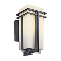 Kichler Lighting Tremillo 1 Light Fluorescent Outdoor Wall Lantern in Black (Painted) 49202BKFL