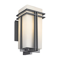 Kichler Lighting Tremillo 1 Light Outdoor Wall Lantern in Black (Painted) 49203BK